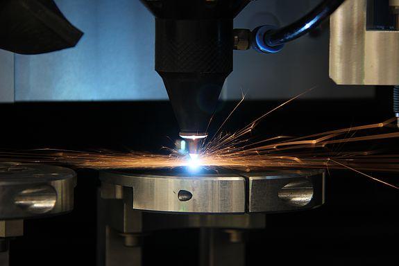 Laser bei der Arbeit