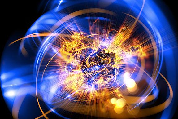 Künstlerische Computerdarstellung eines Quants