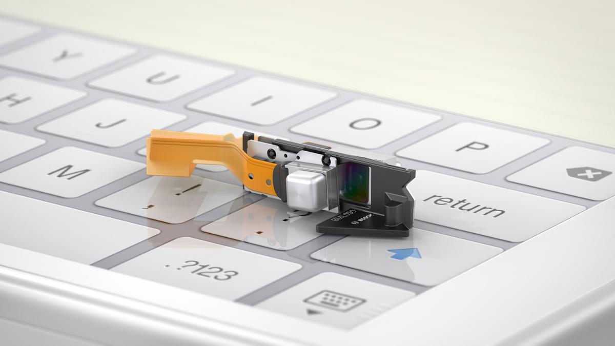 Größenvergleich Scanner mit Tastatur